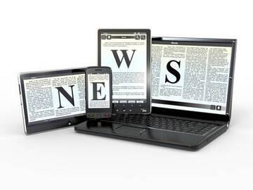 schermi che compongono la scritta news